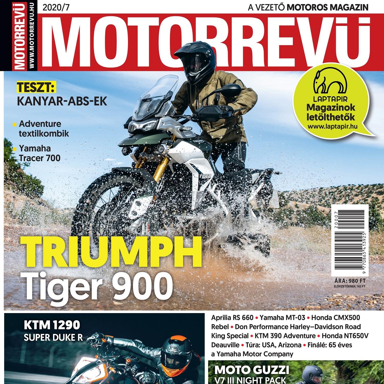 Megjelent a Motorrevü 2020/07-es száma!