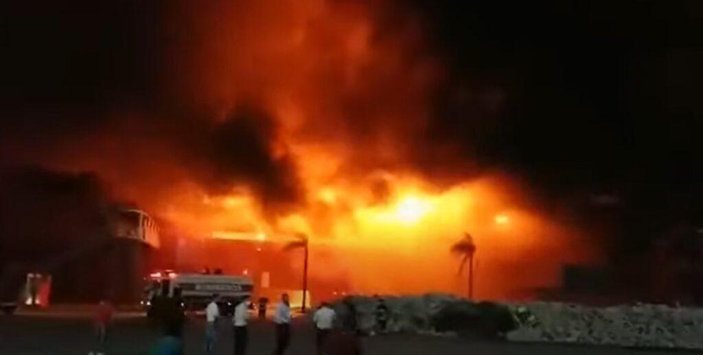 Tűz volt a termasi versenypályán