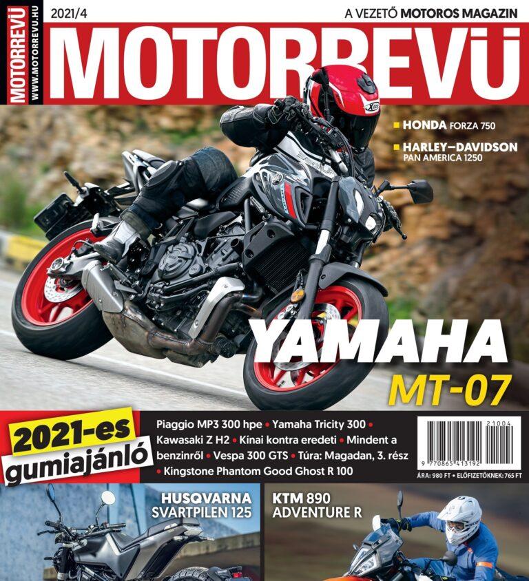 Megjelent a Motorrevü 2021/04-es száma!