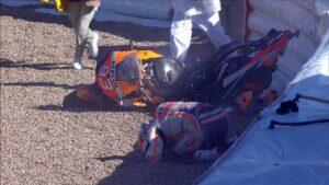 Marquez bukott, de rajthoz állhat.