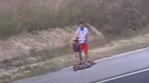 E-rollerrel közlekedett az autópályán